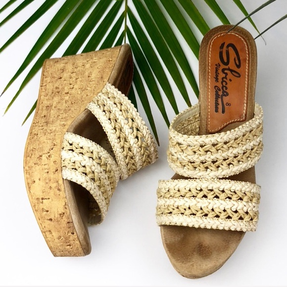f9330d89ac61  Sbicca  Natural Beige Woven Cork Wedge Sandals.  M 5ba3c5922e147858754648b1. Other Shoes you may like. Women s Caged Wedges  Size 7